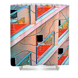 Channeling Mondrian  Shower Curtain by Ira Shander