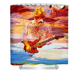 Channeling The Cosmic Goo At The Gorge Shower Curtain by Joshua Morton