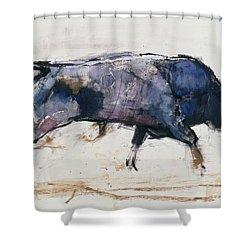 Charging Bull Shower Curtain by Mark Adlington