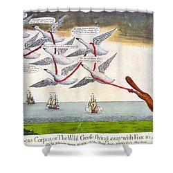Charles Fox: Cartoon, 1782 Shower Curtain by Granger