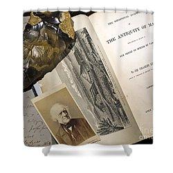 Charles Lyells Antiquity Of Man 1863 Shower Curtain by Paul D Stewart