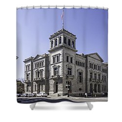 Charleston Post Office And Courthouse Shower Curtain by Lynn Palmer