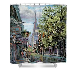 Chartres Rain Shower Curtain by Dianne Parks