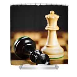 Checkmate In Chess Shower Curtain by Elena Elisseeva