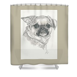 Cheeky Cheeks Shower Curtain by Barbara Keith