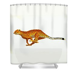 Cheetah Shower Curtain by Michael Vigliotti
