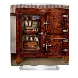 Chef - Fridge - The Ice Chest  Shower Curtain by Mike Savad