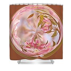 Cherry Blossom Orb Shower Curtain by Kim Hojnacki