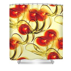 Cherry Jelly Shower Curtain by Anastasiya Malakhova