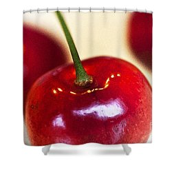 Cherry Still Life Shower Curtain by Heiko Koehrer-Wagner