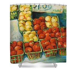 Cherry Tomatoes Shower Curtain by Jen Norton