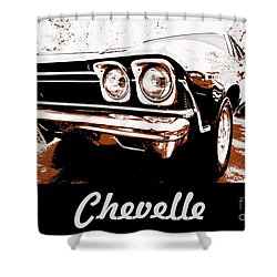 Chevelle Pop Art Shower Curtain by Cheryl Young