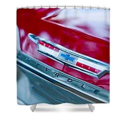 Chevrolet Impala Emblem 3 Shower Curtain by Jill Reger