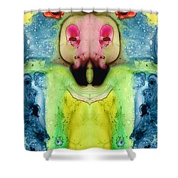 Chi Ant - Aka Mr Happy Bug By Sharon Cummings Shower Curtain by Sharon Cummings