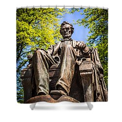Chicago Abraham Lincoln Sitting Statue Shower Curtain by Paul Velgos