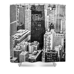 Chicago Aerial Vertical Panoramic Picture Shower Curtain by Paul Velgos
