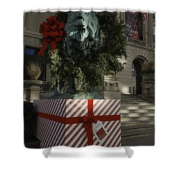 Chicago Art Institute Lion Shower Curtain by Sebastian Musial