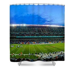 Chicago Bears At Soldier Field Shower Curtain by Steve Gadomski