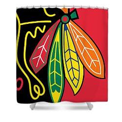 Chicago Blackhawks Shower Curtain by Tony Rubino