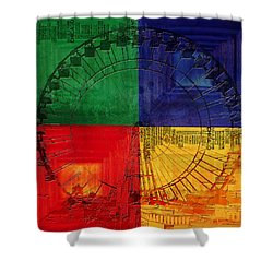 Chicago City Collage 3 Shower Curtain by Corporate Art Task Force