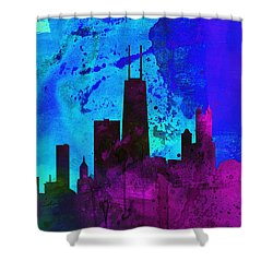 Chicago City Skyline Shower Curtain by Naxart Studio