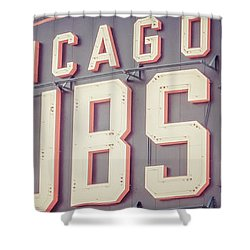 Chicago Cubs Sign Vintage Panoramic Picture Shower Curtain by Paul Velgos