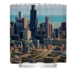 Chicago Highways 05 Shower Curtain by Thomas Woolworth