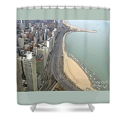 Chicago Lakeshore Shower Curtain by Ann Horn
