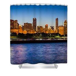 Chicago Skyline Shower Curtain by Inge Johnsson