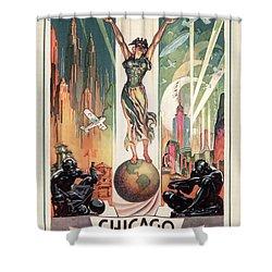 Chicago World's Fair 1933 Shower Curtain by Granger