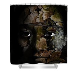 Child Of The Forest Shower Curtain by Christopher Gaston