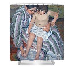 Child's Bath 1893 Shower Curtain by  Mary Stevenson Cassatt
