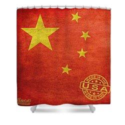 China Flag Made In The Usa Shower Curtain by Tony Rubino