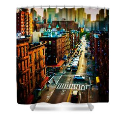 Chinatown Streets Shower Curtain by Chris Lord