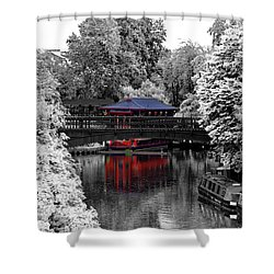 Chinese Architecture In Regent's Park Shower Curtain by Maj Seda