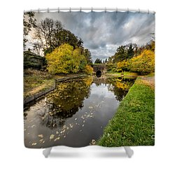Chirk Canal Shower Curtain by Adrian Evans