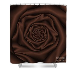 Chocolate Rose Spiral Shower Curtain by Colin  Forrest