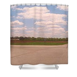 Choices At The Cross Roads Panorama Shower Curtain by Thomas Woolworth