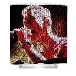 Chris Martin - Montage Shower Curtain by Chris Cousins