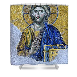 Christ Pantocrator II Shower Curtain by Stephen Stookey