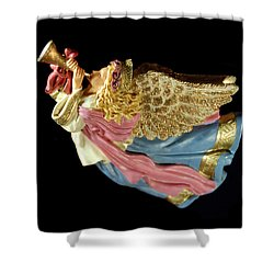 Christmas Angel Shower Curtain by Aimee L Maher Photography and Art Visit ALMGallerydotcom