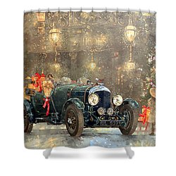 Christmas Bentley Shower Curtain by Peter Miller