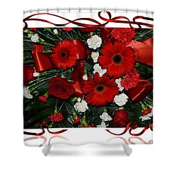Christmas Bouquet  Shower Curtain by Kathleen Struckle