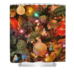 Christmas Branches Shower Curtain by Jeff Kolker
