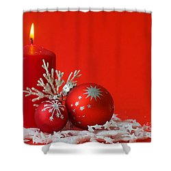 Christmas Decoration Background Shower Curtain by Michal Bednarek