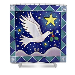 Christmas Dove  Shower Curtain by Cathy Baxter