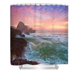 Christmas Eve Sunset Shower Curtain by Darren  White