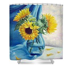 Chrysanthemums Shower Curtain by Sorin Apostolescu