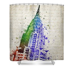 Chrysler Building Shower Curtain by Aged Pixel