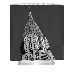 Chrysler Building Bw Shower Curtain by Susan Candelario